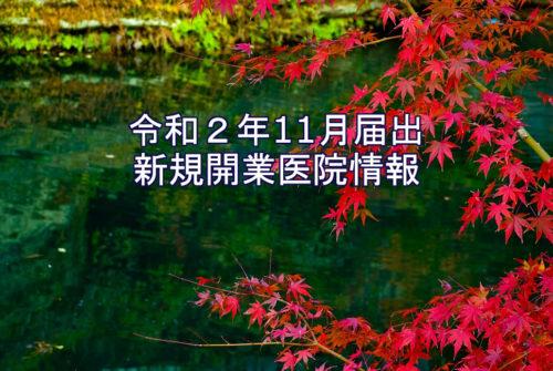 令和2年11月届出  新規開業医院情報(近畿)