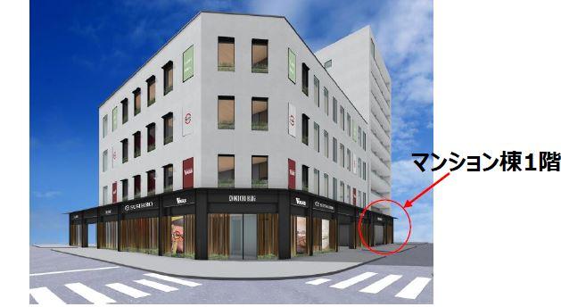 【吹田市】江坂駅徒歩5分 新築1階テナント